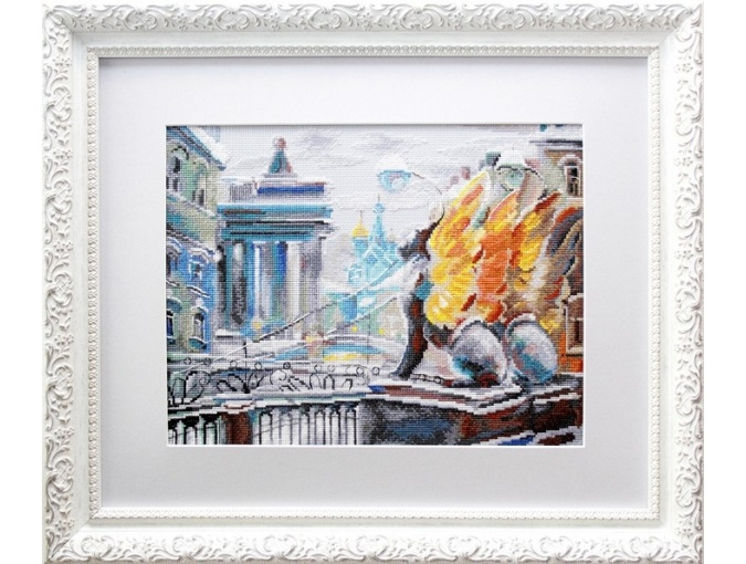 Statuesque Gryphons Cross Stitch Kit фото 2