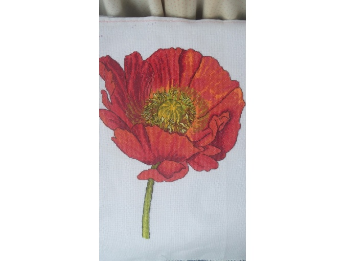 Bright Poppy Cross Stitch Pattern фото 4