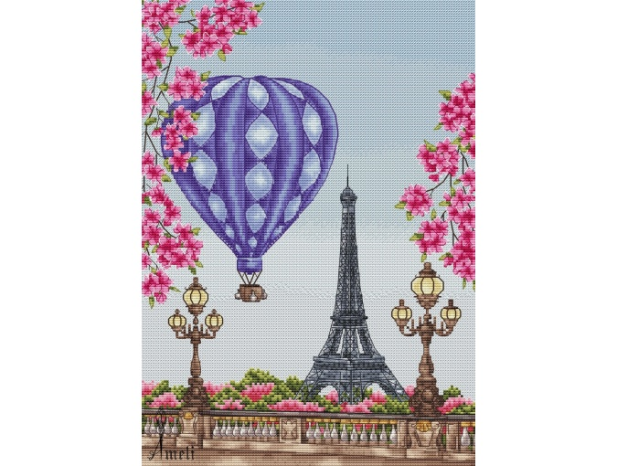 Spring in Paris Cross Stitch Chart фото 2