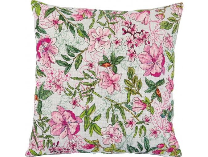 Magnolia Cushion Front Cross Stitch Kit фото 1