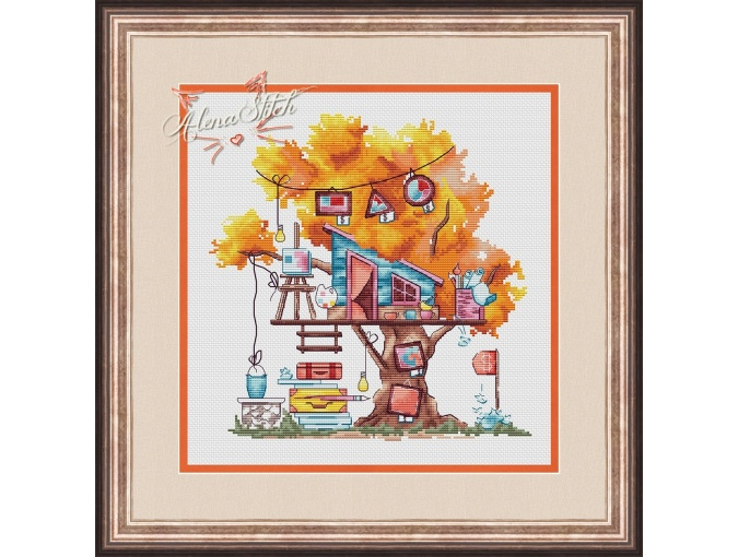 Artist's House Cross Stitch Pattern фото 1