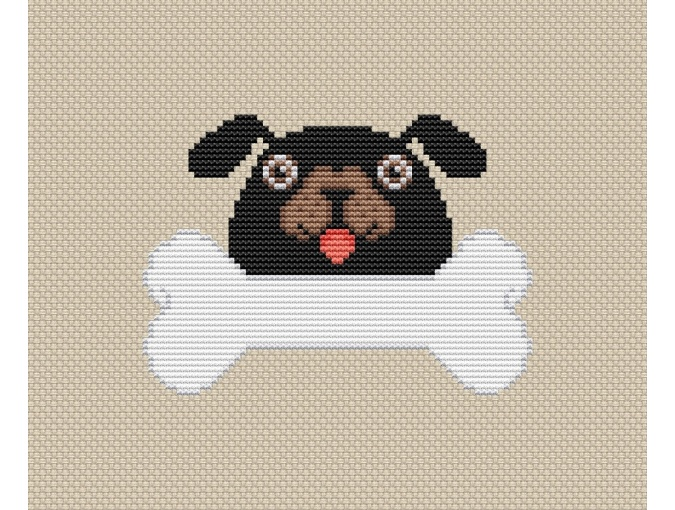 Dog Cross Stitch Pattern фото 1