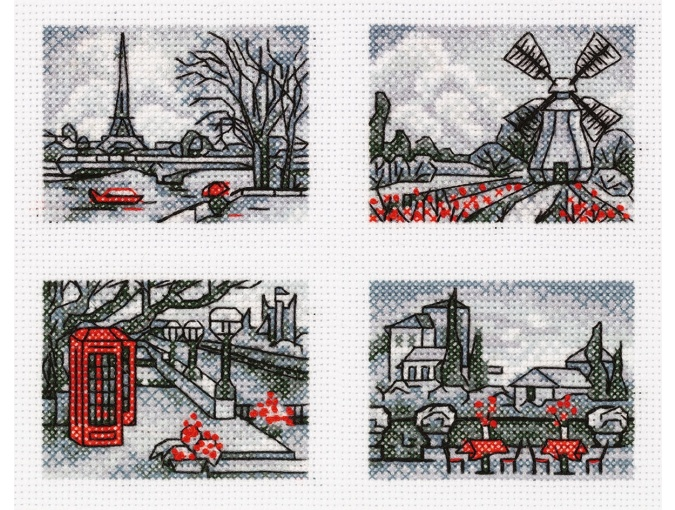 European walks Cross Stitch Kit фото 1