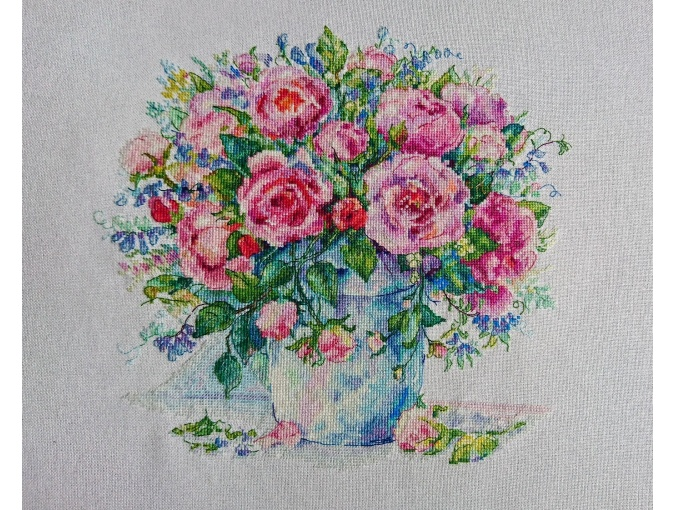 Bouquet of Roses Cross Stitch Chart фото 2