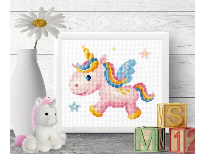 Rainbow Unicorn Cross Stitch Kit фото 4