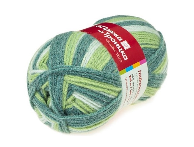 Troitsk Wool Countryside Print, 50% wool, 50% acrylic 10 Skein Value Pack, 1000g фото 41