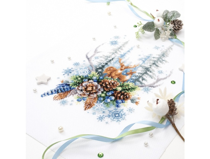 Winter Forest Spirit Cross Stitch Kit фото 8