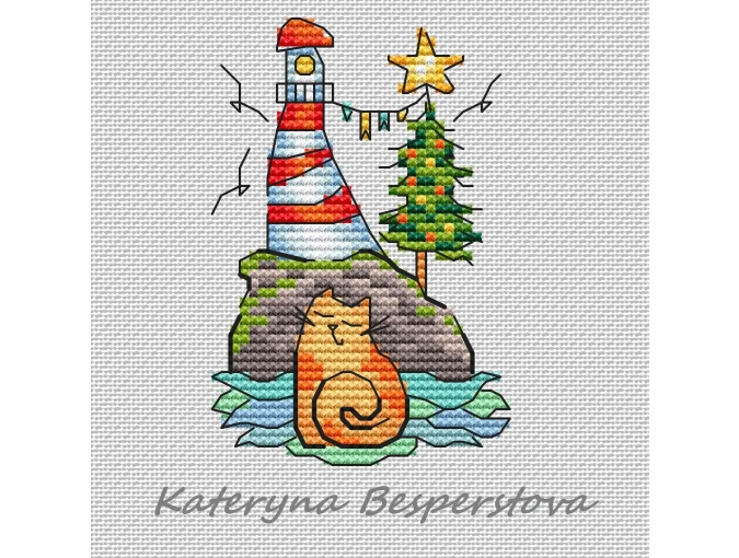 New Year in Hot Countries Cross Stitch Pattern фото 1