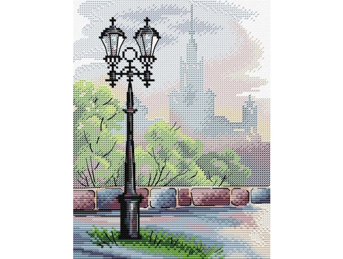 Moscow Lantern Cross Stitch Kit фото 1