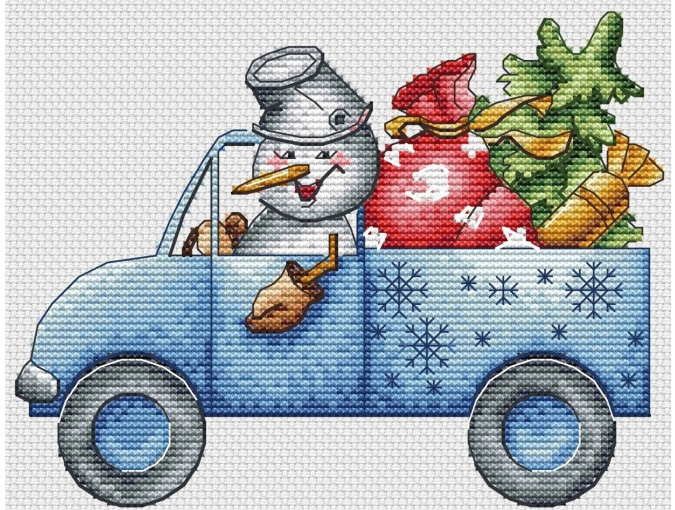 Christmas Truck Cross Stitch Pattern фото 2