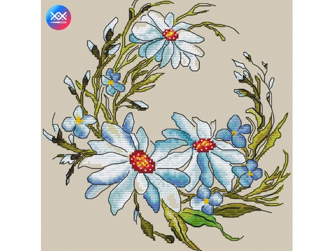 Daisies Cross Stitch Pattern фото 2