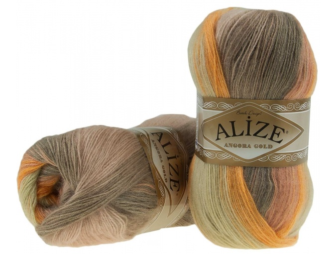 Alize Angora Gold Batik, 10% mohair, 10% wool, 80% acrylic 5 Skein Value Pack, 500g фото 38