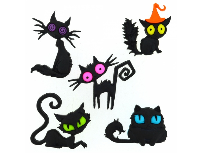 Creeped Out Cats Set of Decorative Buttons фото 1