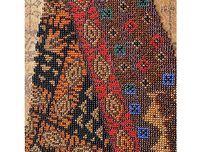 Mysterious African Woman Bead Embroidery Kit фото 4