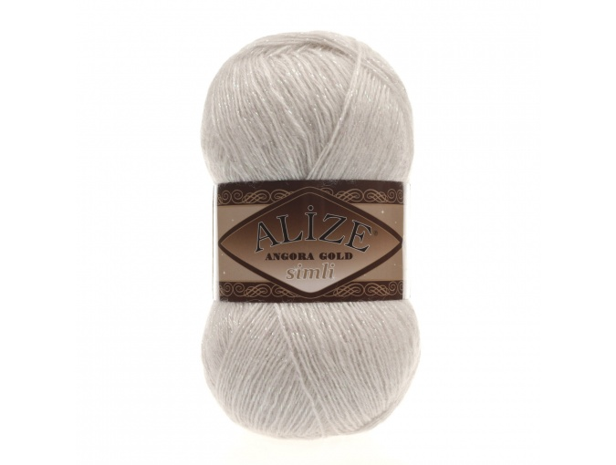 Alize Angora Gold Simli, 5% Lurex, 10% Mohair, 10% Wool, 75% Acrylic, 5 Skein Value Pack, 500g фото 1