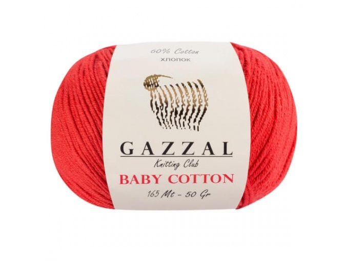 Gazzal Baby Cotton, 60% Cotton, 40% Acrylic 10 Skein Value Pack, 500g фото 18