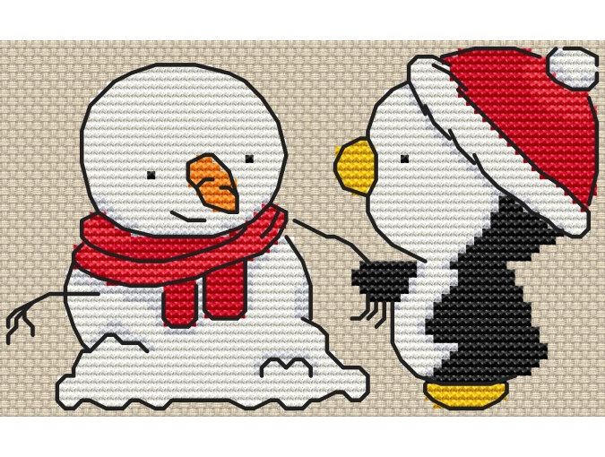Winter Friendship Cross Stitch Pattern фото 2