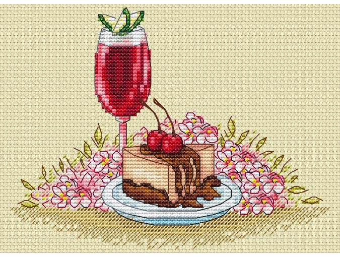 Dessert Cross Stitch Pattern фото 1