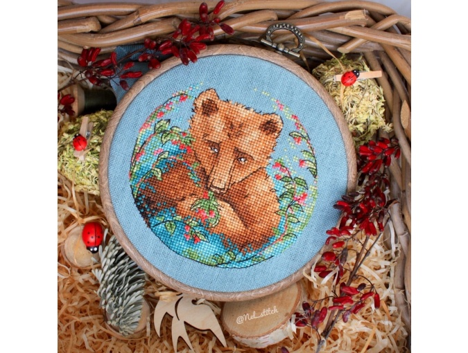 Bear and Berries Cross Stitch Pattern фото 4