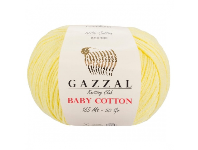 Gazzal Baby Cotton, 60% Cotton, 40% Acrylic 10 Skein Value Pack, 500g фото 8