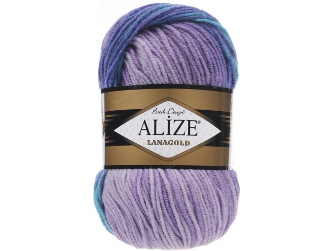 Alize Lanagold Batik 49% Wool, 51% Acrylic, 5 Skein Value Pack, 500g фото 10