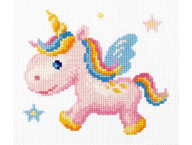 Rainbow Unicorn Cross Stitch Kit фото 3