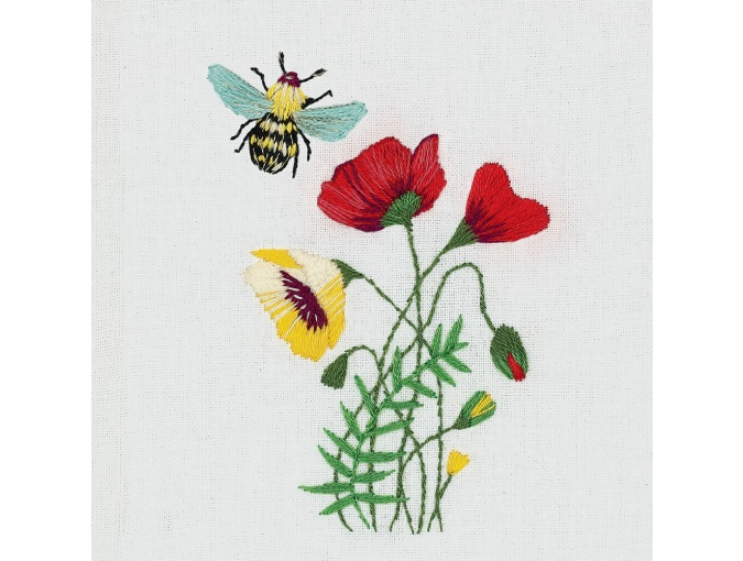 Small Bunch of Wild Flowers Embroidery Kit фото 1