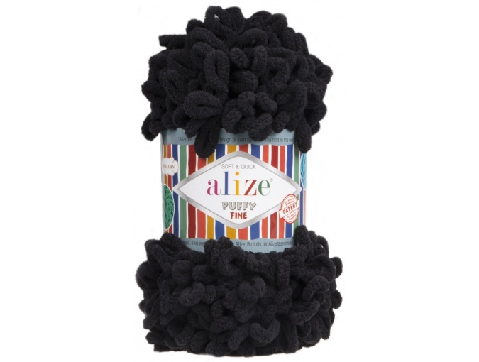 Alize Puffy Fine, 100% Micropolyester 5 Skein Value Pack, 500g фото 6