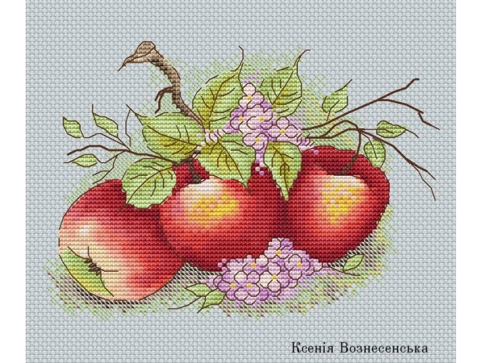 Apples Cross Stitch Chart фото 1