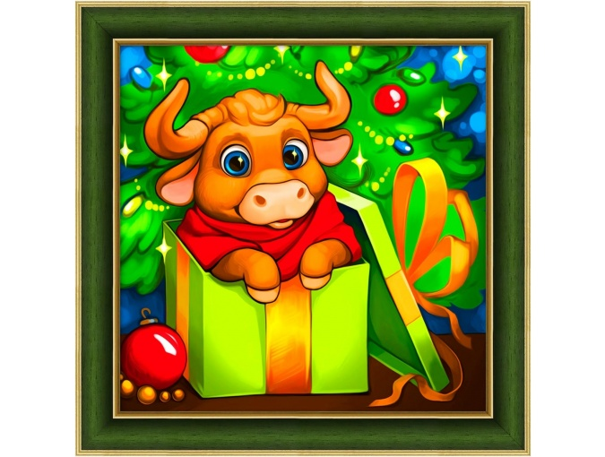 New Year Bull Diamond Painting Kit фото 1