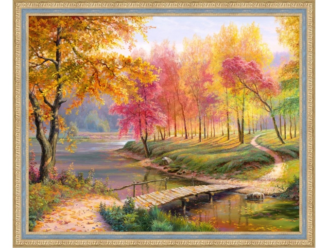 Autumn in the Old Park Diamond Painting Kit фото 1