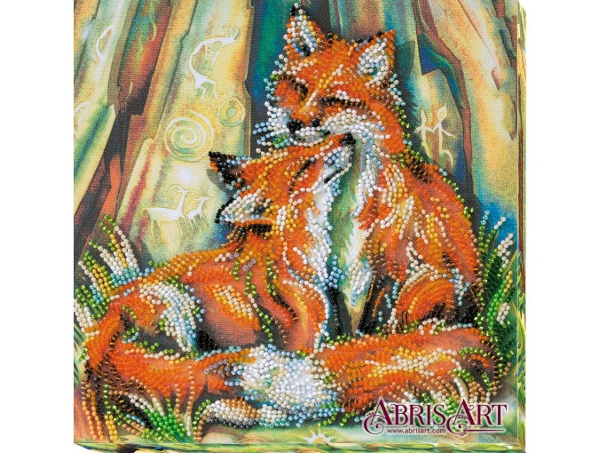 Small Foxes Bead Embroidery Kit фото 1
