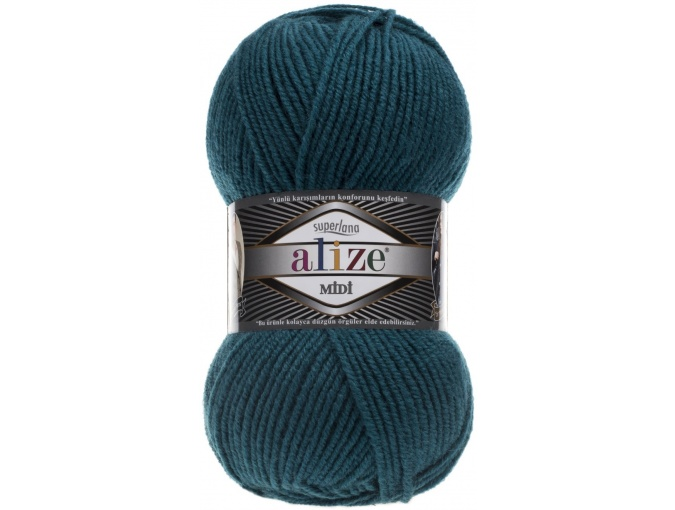 Alize Superlana Midi 25% Wool, 75% Acrylic, 5 Skein Value Pack, 500g фото 24