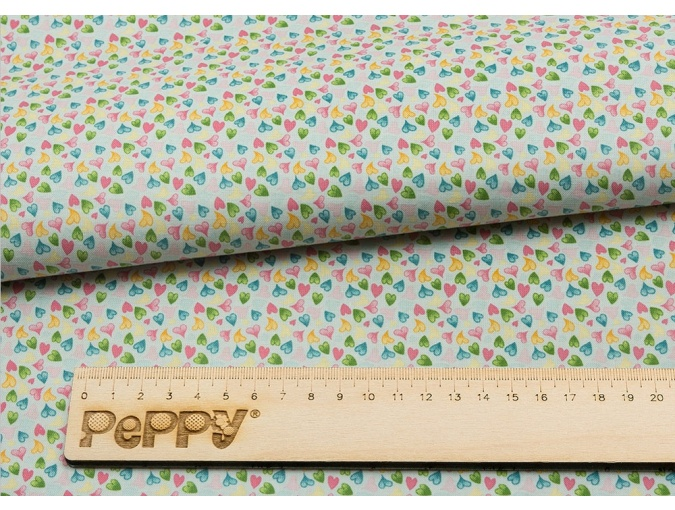Fat Quarter Peppy, print Blue with Hearts фото 2