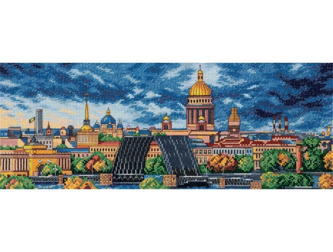 Morning in St. Petersburg Cross Stitch Kit фото 1