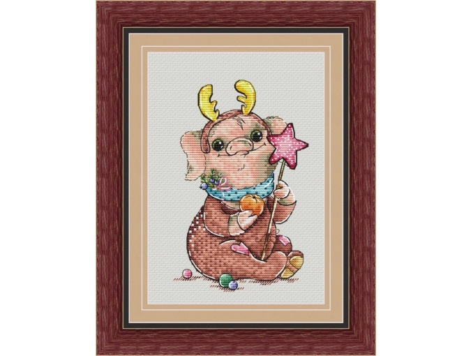 Oink Deer Cross Stitch Pattern фото 1