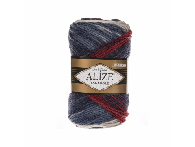 Alize Lanagold Batik 49% Wool, 51% Acrylic, 5 Skein Value Pack, 500g фото 1