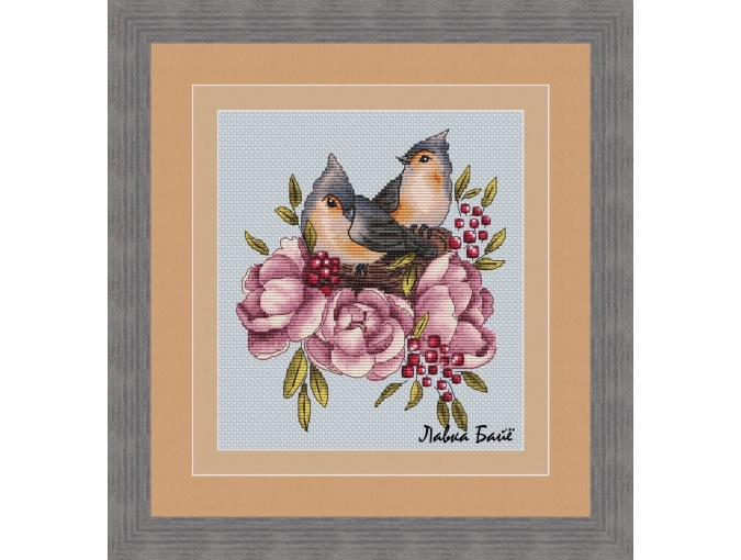 Cozy Nest Cross Stitch Pattern фото 1