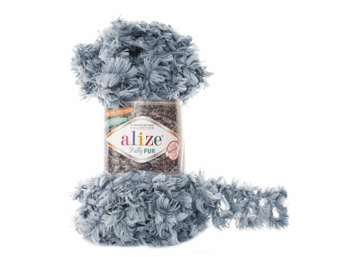 Alize Puffy Fur, 100% Polyester 5 Skein Value Pack, 500g фото 9