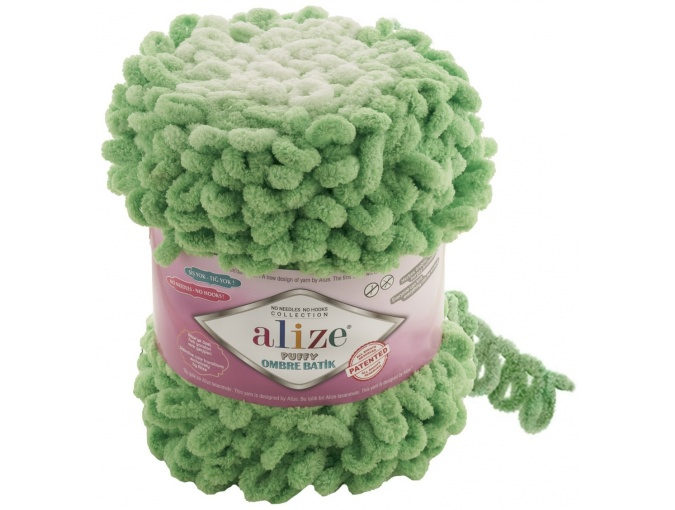 Alize Puffy Ombre Batik, 100% Micropolyester 1 Skein Value Pack, 600g фото 14