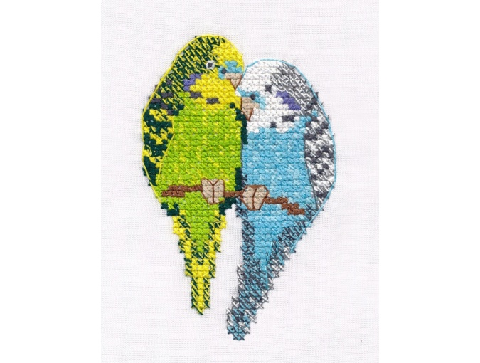 Parrots Cross Stitch Kit фото 1