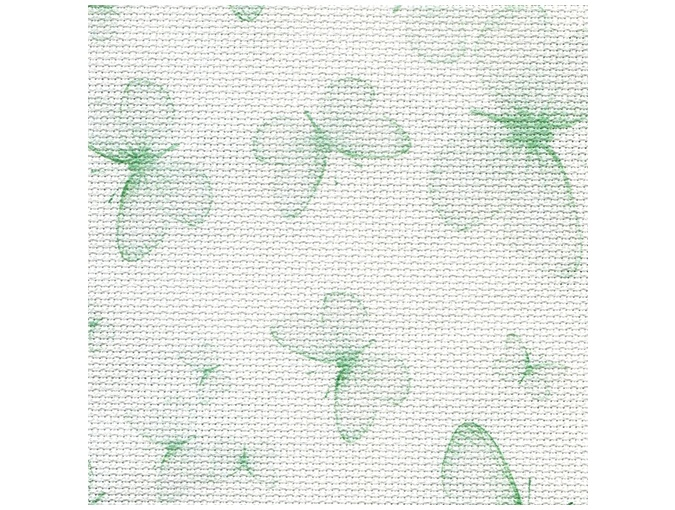 14 Count Aida Designer Fabric by Bestex Green Butterflies фото 1
