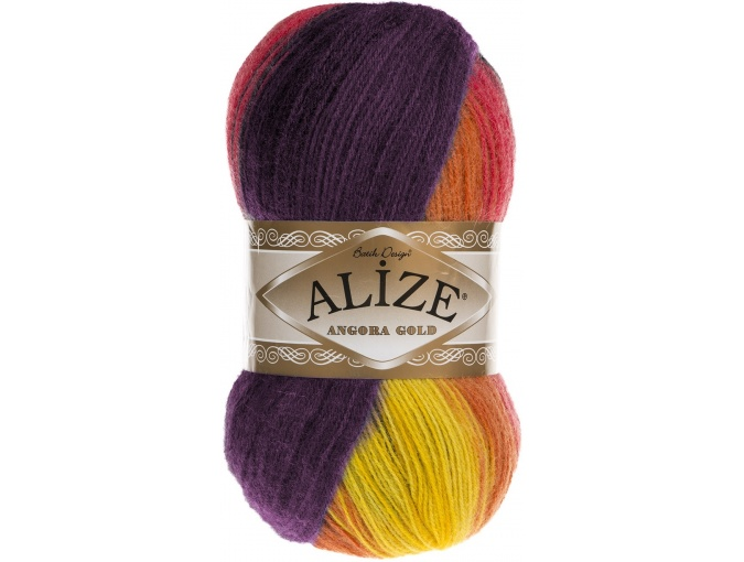 Alize Angora Gold Batik, 10% mohair, 10% wool, 80% acrylic 5 Skein Value Pack, 500g фото 59