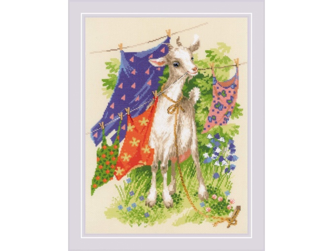 Naughty Goat Cross Stitch Kit фото 1