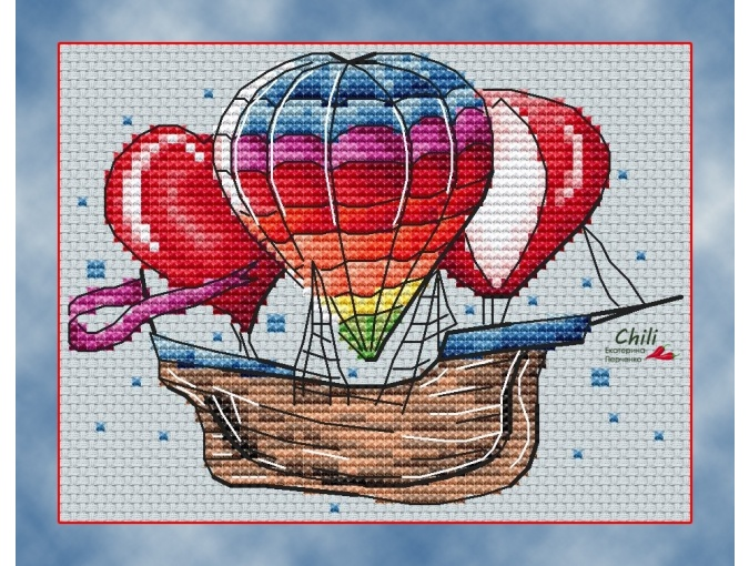 Aero Trio Cross Stitch Pattern фото 1