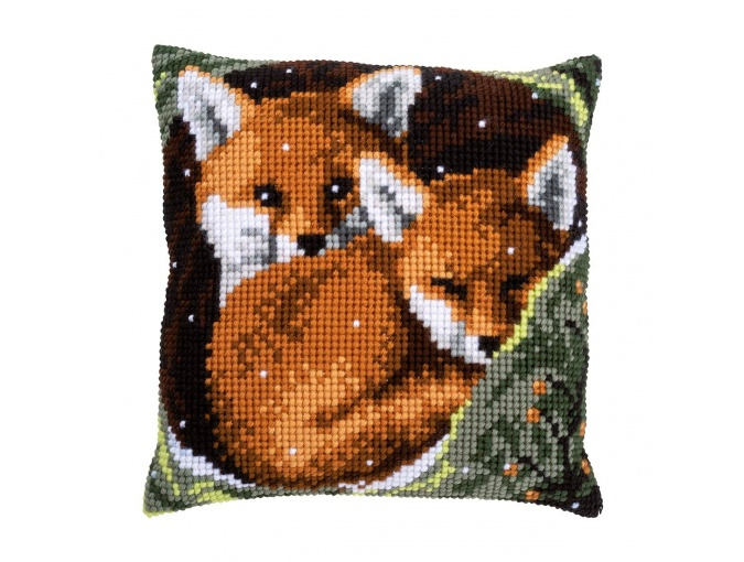 Fox Cubs Cushion Cross Stitch Kit фото 1