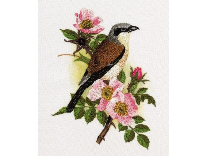 Red-backed Shrike Embroidery Kit фото 1