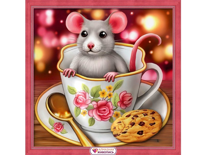 Rat in a Cup Diamond Painting Kit фото 1