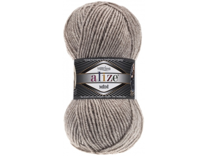 Alize Superlana Midi 25% Wool, 75% Acrylic, 5 Skein Value Pack, 500g фото 22
