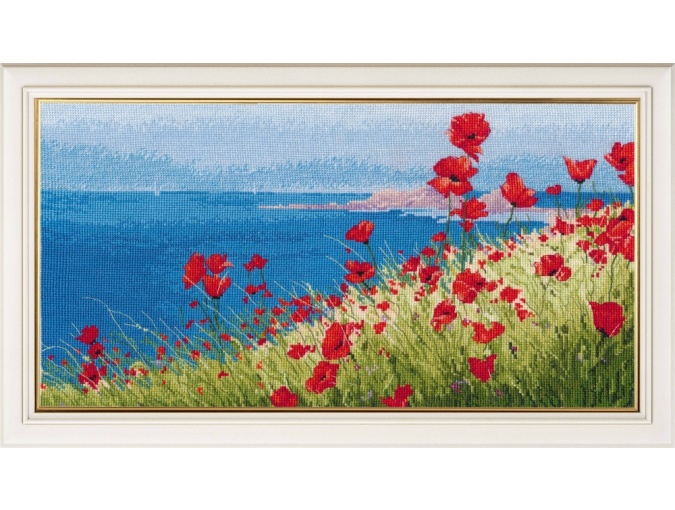 Summer, Sea, Poppies Cross Stitch Kit фото 1